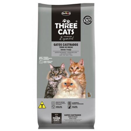 THREE CATS ESPECIAL GATOS CASTRADOS