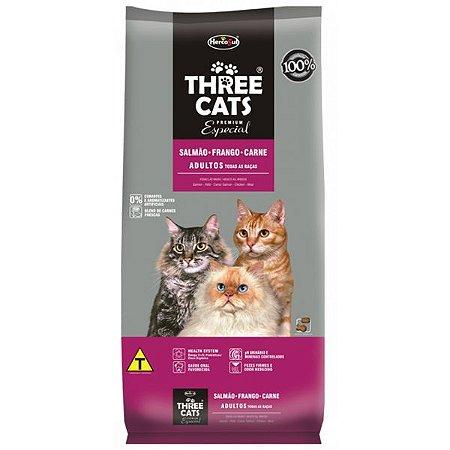 THREE CATS ESPECIAL SALMAO FRANGO CARNE