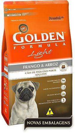 RAÇÃO GOLDEN LIGHT ADULTOS RAÇAS PEQUENAS FRANGO E ARROZ