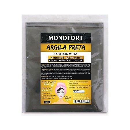 ARGILA PRETA COM COLÁGENO - MONOFORT 500 G
