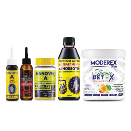 Tratamento 30 dias - Nanovin A Hair (Chá Detox Vencimento *16/06/2021*)