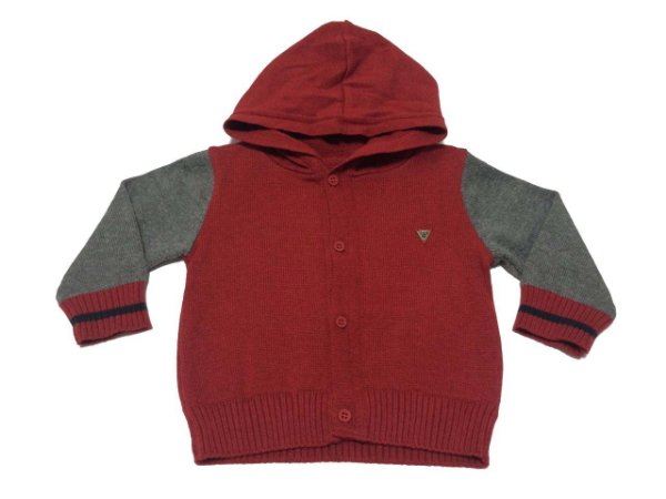e5b222b7ca9a0 Casaco Anjos Baby com Capuz - Vermelho - Compre na Pin Pin Baby ...