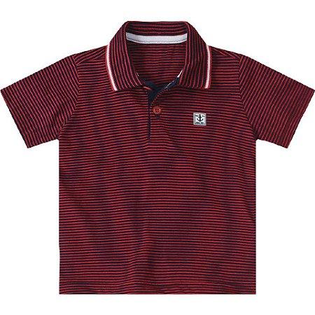 ac22c476e Camisa Polo Marisol Listrada Vermelha Azul - Pin Pin Baby - Calçados ...