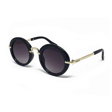 Óculos de Sol Kidsplash Infantil Redondo Acetato Preto - Compre na ... 98494e99d1