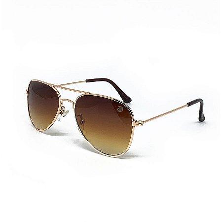 6bc1e62b3 Óculos de Sol Kidsplash Infantil Aviador Marrom - Compre na Pin Pin ...