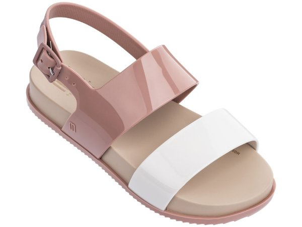 c5a590cade Sandália Melissa Mel Cosmic Sandal Bege Branca Rosa - Compre na Pin ...