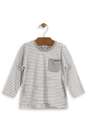 ca39519d6 Camiseta Manga Longa Up Baby Listrada Cinza - Compre na Pin Pin Baby ...