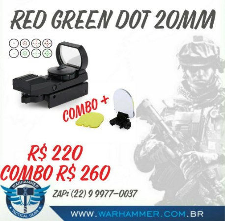 Red Dot Holográfico + Protetor 20mm