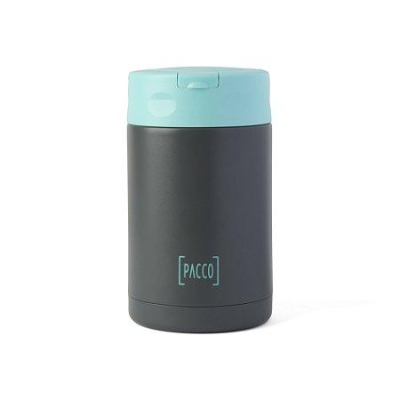 Pote Térmico Food Jar c/ Colher 500ml Cinza e Turquesa - PACCO