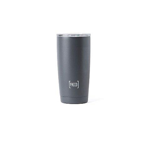 Copo Térmico Thermo Cup Cinza 600ml - PACCO