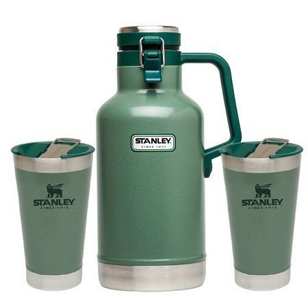 Kit Growler e 2 Copos Cerveja Gelada Verde - STANLEY
