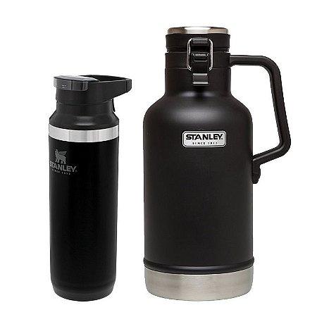 Kit Switchback Black 473ml e Growler Térmico Preto 1,9L - STANLEY