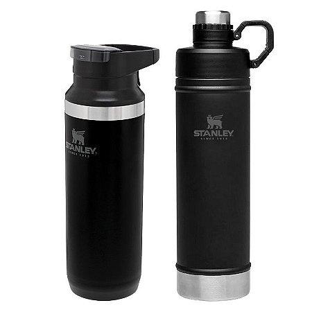Kit Switchback 473ml Black e Garrafa Hydration 750ml Black- STANLEY