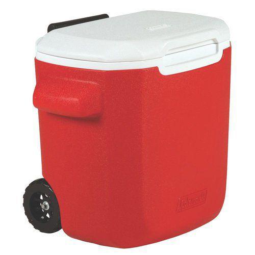 Caixa Térmica 16QT - 15,1 litros Vermelha com Rodas - COLEMAN