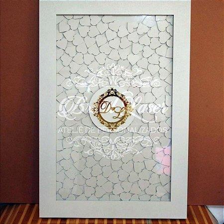 Quadro de Assinaturas Pintado com Brasão com Acrílico Espelhado Personalizado - QAB 00101A