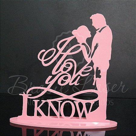 Topo de Bolo Casal I Love You - TBC 00533A