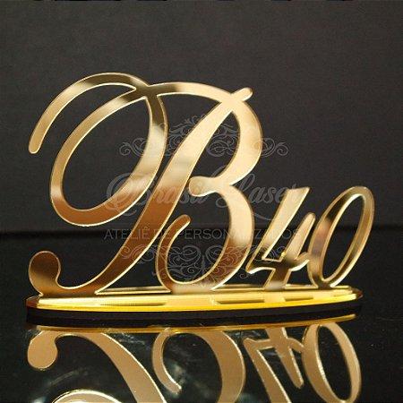 Topo de Bolo (Personalizado com Inicial e Idade que o Cliente Desejar) - TBV 01012A