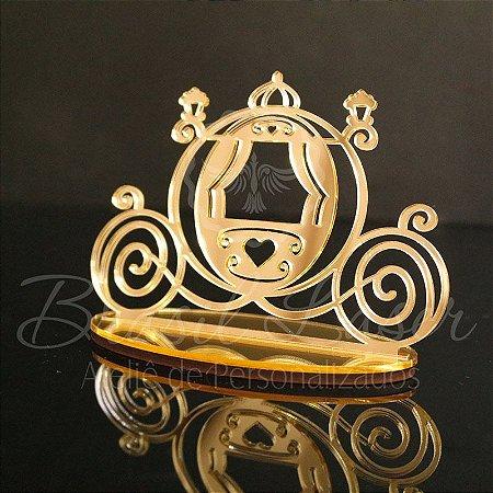Topo de Bolo Carruagem Princesa Príncipe - TBV 01057A