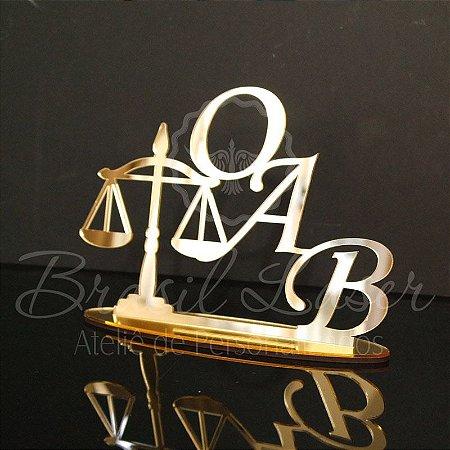 Topo de Bolo Formatura Formado OAB (Personalizado com Letras que o Cliente Desejar) - TBV 01064A