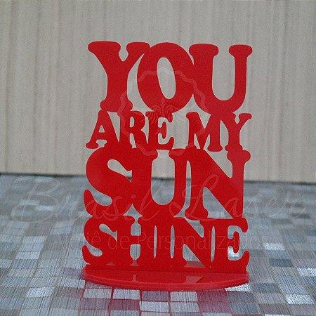 Topo de Bolo You Are My Sun Shine (Você é o meu raio de sol) - TBV 01080A