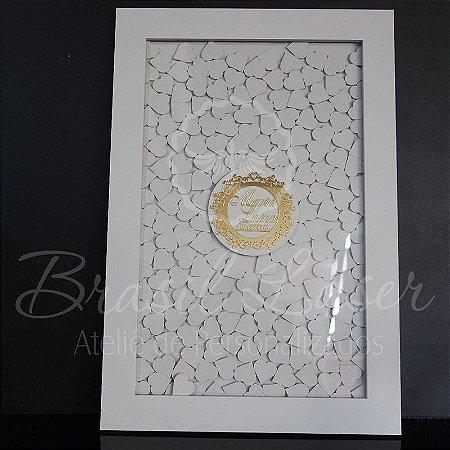 Quadro de Assinaturas Pintado com Brasão com Acrílico Espelhado Personalizado - QAB 00102A