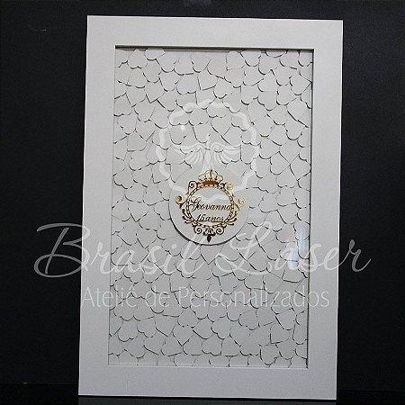 Quadro de Assinaturas Pintado com Brasão com Acrílico Espelhado Personalizado - QAB 00106A