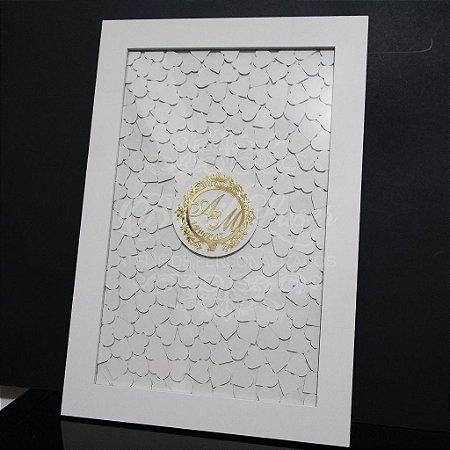 Quadro de Assinaturas Pintado com Brasão com Acrílico Espelhado Personalizado - QAB 00109A