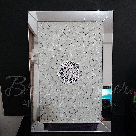 Quadro de Assinaturas Pintado com Brasão com Acrílico Espelhado Personalizado - QAB 00138A