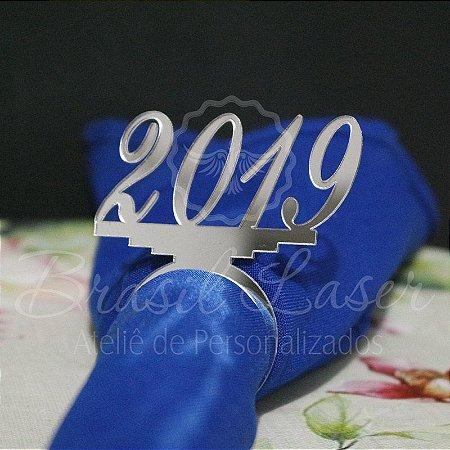 1 Porta Guardanapo Feliz Ano Novo New Year com o Ano que desejar - #Quant.Mínima: 10 unidades iguais# PGP 02028A