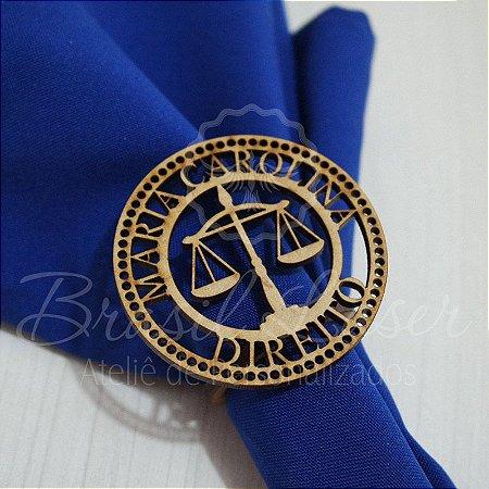 1 Porta Guardanapo em Mdf Direito com o Nome do Formado Advogado (Pintado e Sem Pintura) - #Quant.Mínima: 10 unidades iguais# PGV 01011A