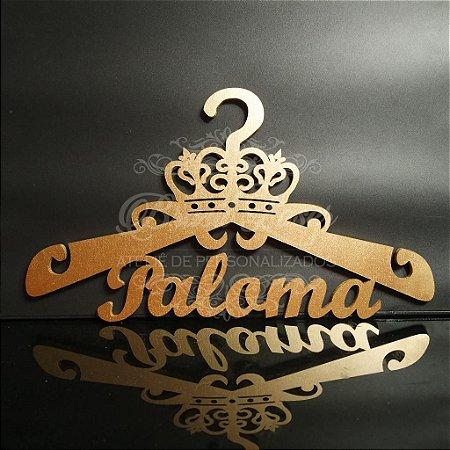 Cabide Personalizado Coroa com os Nome(s) dos Noivos ou Debutante - CAV 01028A