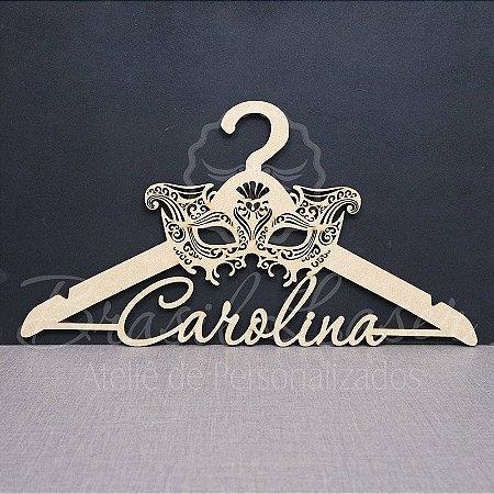 Cabide Personalizado Máscara com os Nome(s) dos Noivos ou Debutante XV 15 Anos - CAV 01038A