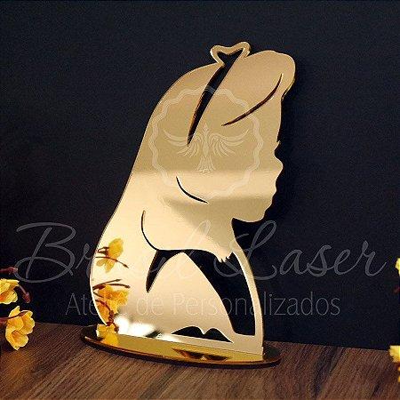 Topo de Bolo Menina Princesa - TBV 01183A