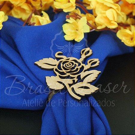 1 Porta Guardanapo em Mdf Feliz Rosa Flor (Pintado e Sem Pintura) - #Quant.Mínima: 10 unidades iguais# PGV 01096A