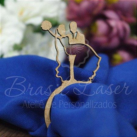1 Porta Guardanapo Casal Casamento Noivado Noiva Noivo - #Quant.Mínima: 10 unidades iguais# PGP 02119A