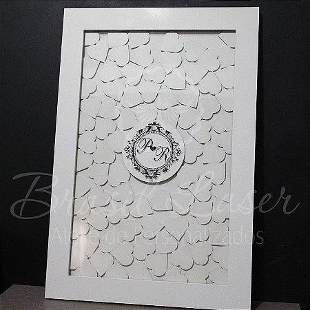Quadro de Assinaturas Pintado com Brasão com Acrílico Espelhado Personalizado - QAB 00101B