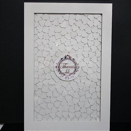 Quadro de Assinaturas Pintado com Brasão com Acrílico Espelhado Personalizado - QAB 00101D