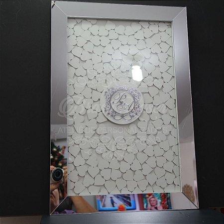 Quadro de Assinaturas Pintado com Brasão com Acrílico Espelhado Personalizado - QAB 00105B