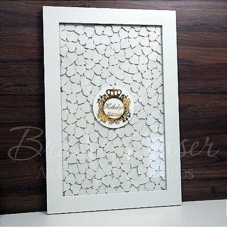 Quadro de Assinaturas Pintado com Brasão com Acrílico Espelhado Personalizado - QAB 00105D