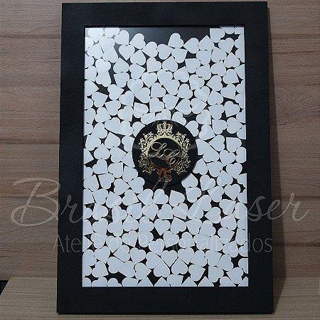 Quadro de Assinaturas Pintado com Brasão com Acrílico Espelhado Personalizado - QAB 00105G