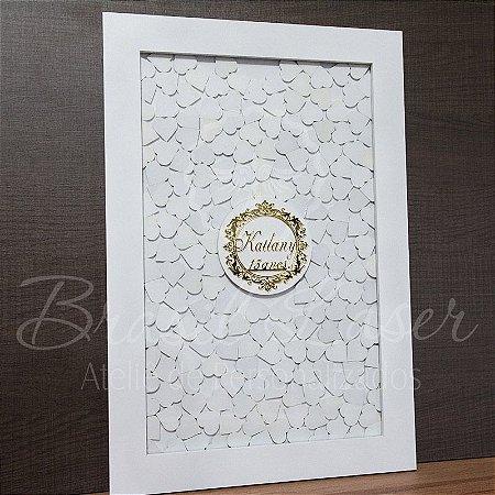 Quadro de Assinaturas Pintado com Brasão com Acrílico Espelhado Personalizado - QAB 00109B
