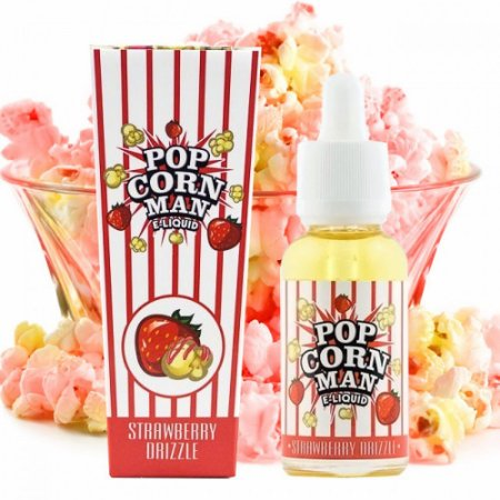 Líquido PopCorn Man - STRAWBERRY DRIZZLE
