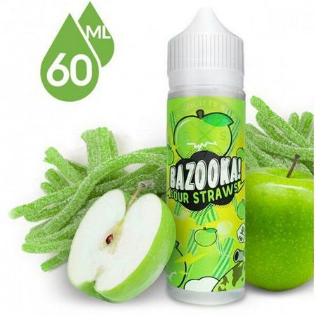 Líquido Bazooka Sour Straws - Green Apple