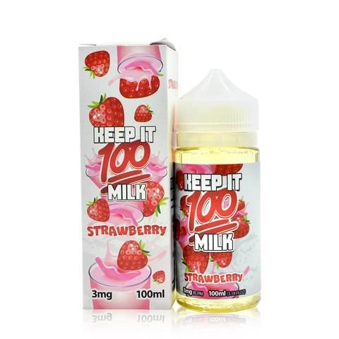 Líquido Keep it 100 milk - Strawberry