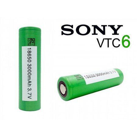 Bateria 18650 Li-Ion US 18650 VTC6 3.6V 3000mAh High Drain 10C 30A Flat Top -  Sony - UNITÁRIO