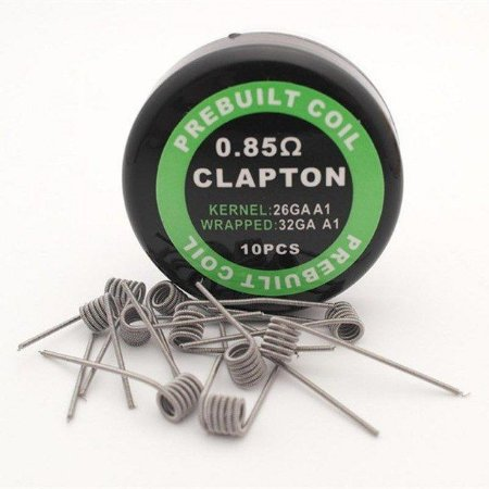 CLAPTON  0.85 PACK COM 10 - COIL'S PREBUILT COIL