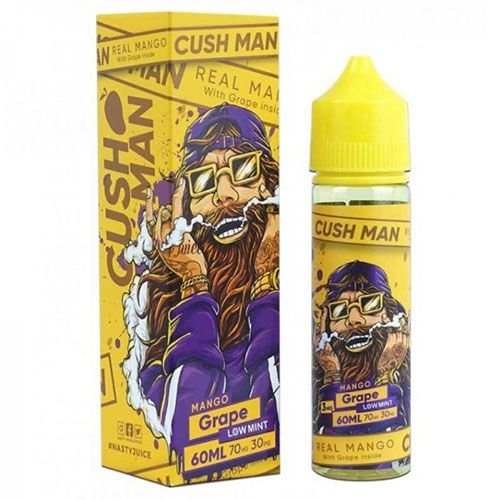 Líquido Cush Man Mango Grape (Low Mint) - Nasty Juice