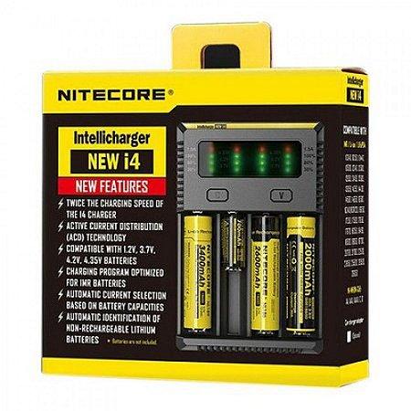 Carregador de Baterias - New i4 - Nitecore