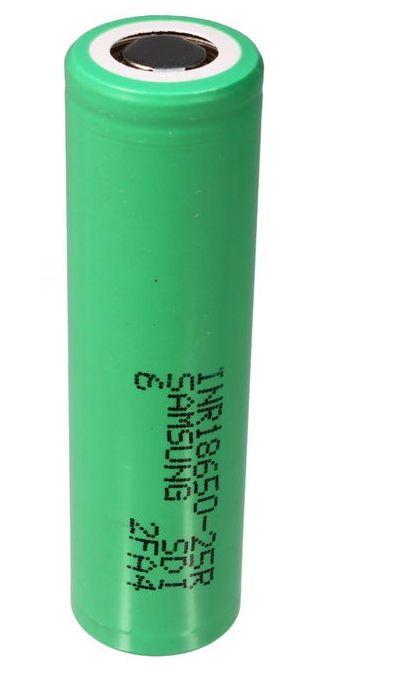 Bateria 18650 2500 mAh INR18650-25R  de Li-Ion  de 3.7V 20A - Samsung  Unitário