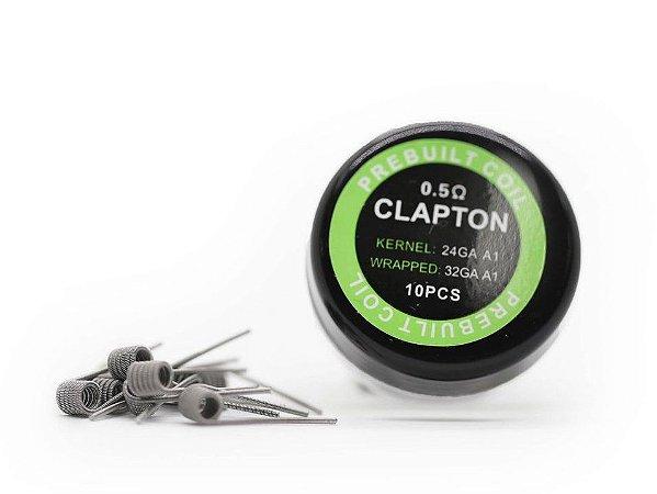 CLAPTON 0.5 PACK COM 10 - COIL'S PREBUILT COIL